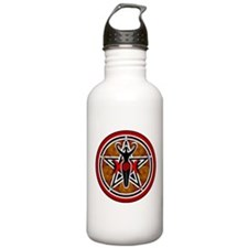 Red and Gold Goddess Pentacle Water Bottle