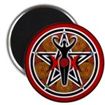 Red and Gold Goddess Pentacle Magnet