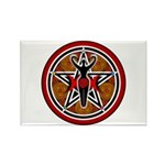 Red and Gold Goddess Pentacle Rectangle Magnet