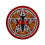 Red and Gold Goddess Pentacle 3.5