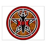 Red and Gold Goddess Pentacle Small Poster