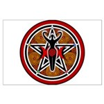 Red and Gold Goddess Pentacle Large Poster