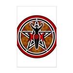 Red and Gold Goddess Pentacle Mini Poster Print