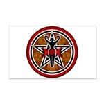 Red and Gold Goddess Pentacle 22x14 Wall Peel