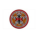 Red and Gold Goddess Pentacle 38.5 x 24.5 Wall Pee