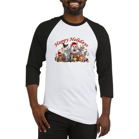 Happy Holiday Cat Designs Baseball Jersey