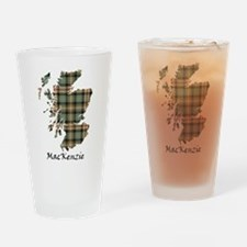 Map-MacKenzie htg brn Drinking Glass