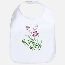 Happy Eid flower Bib