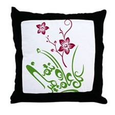 Happy Eid flower Throw Pillow
