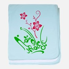 Happy Eid flower baby blanket