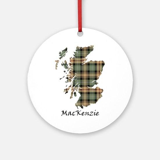Map-MacKenzie htg brn Round Ornament