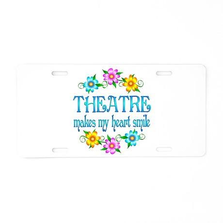Theatre Smiles Aluminum License Plate