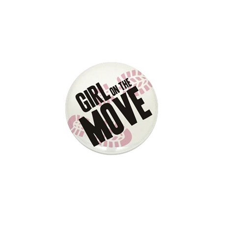 Girl on the Move Mini Button