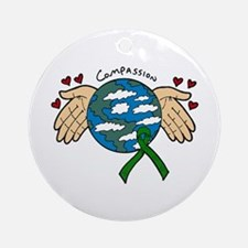 Organ Donation Globe Ornament (Round)