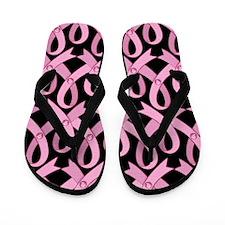 Pink Gem Ribbon Flip Flops