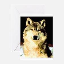 Like A Wolf Greeting Card