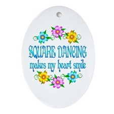 Square Dancing Smiles Ornament (Oval)