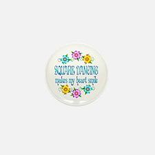Square Dancing Smiles Mini Button (10 pack)