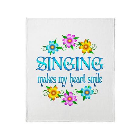 Singing Smiles Throw Blanket