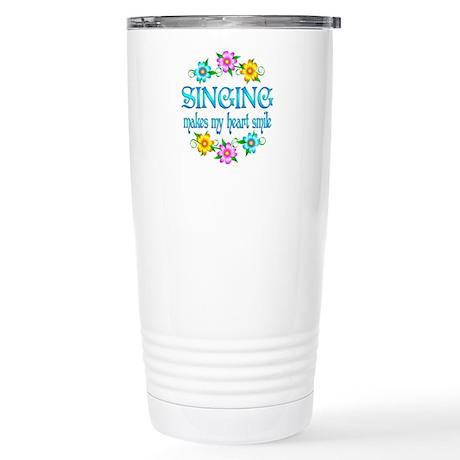 Singing Smiles Stainless Steel Travel Mug