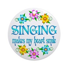 Singing Smiles Ornament (Round)