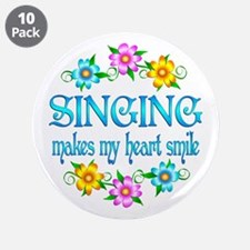 """Singing Smiles 3.5"""" Button (10 pack)"""