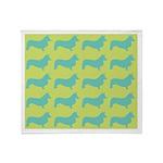 Retro Corgi Pattern Throw Blanket