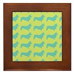 Retro Corgi Pattern Framed Tile