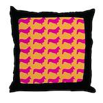 Retro Corgi Pattern Throw Pillow