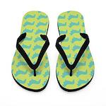 Retro Corgi Pattern Flip Flops