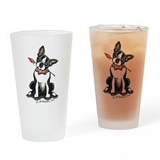 Boston Girly Rose Drinking Glass