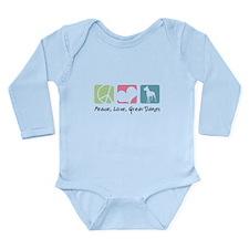 Peace, Love, Great Danes Long Sleeve Infant Bodysu