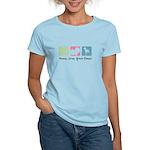 Peace, Love, Great Danes Women's Light T-Shirt