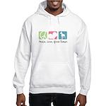 Peace, Love, Great Danes Hooded Sweatshirt