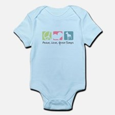 Peace, Love, Great Danes Infant Bodysuit