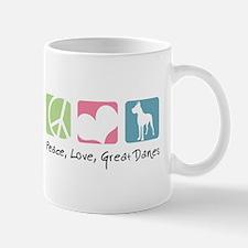 Peace, Love, Great Danes Mug