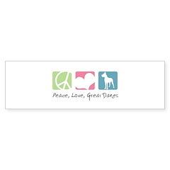 Peace, Love, Great Danes Bumper Sticker