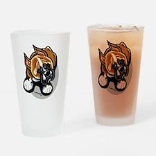 Funny Boxer Cartoon Drinking Glass
