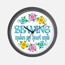 Sewing Smiles Wall Clock