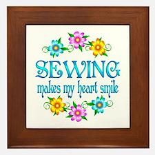 Sewing Smiles Framed Tile