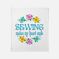 Sewing Smiles Throw Blanket