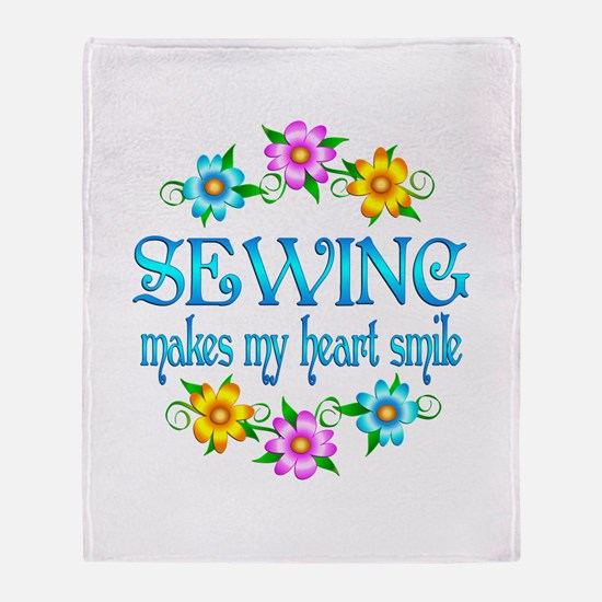 Sewing Smiles Throw Blanket