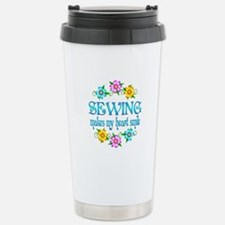 Sewing Smiles Stainless Steel Travel Mug