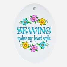 Sewing Smiles Ornament (Oval)
