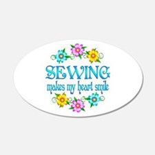 Sewing Smiles 22x14 Oval Wall Peel