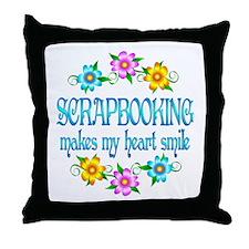 Scrapbooking Smiles Throw Pillow