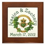 Jessica & Zachary Framed Tile