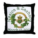 Jessica & Zachary Throw Pillow