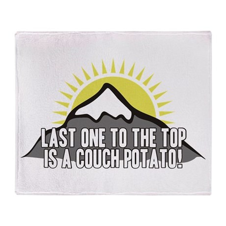 Last one to the Top Throw Blanket