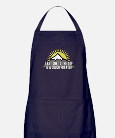 Last one to the Top Apron (dark)
